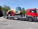 Baumaschinentransport